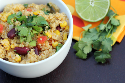 spicy quinoa 4 Spicy Quinoa with Kidney Beans, Corn and Lime