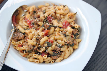 swiss chard pasta skillet 7 Skillet Macaroni with Swiss Chard Recipe