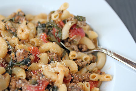 swiss chard pasta skillet 8 Skillet Macaroni with Swiss Chard Recipe