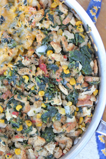 spicy stuffing and chicken  Lisas Chicken and Stuffing Skillet Dinner